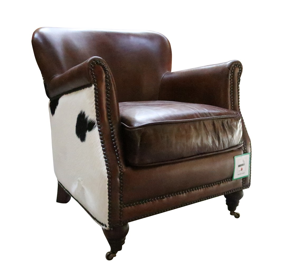 Pleasing Black Cow Vintage Distressed Brown Leather Armchair Alphanode Cool Chair Designs And Ideas Alphanodeonline