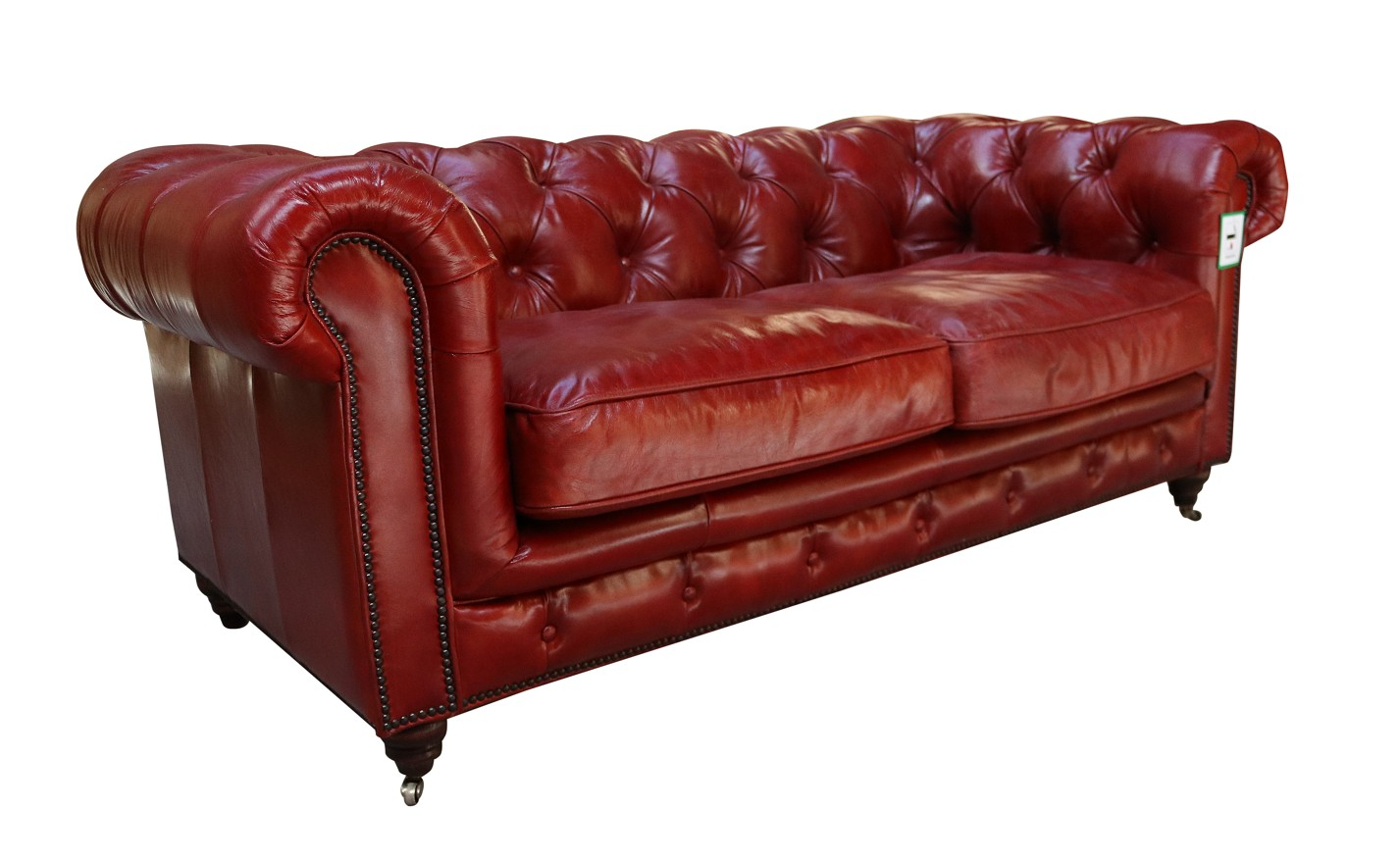 Picture of: Vintage Distressed Rouge Red Leather Chesterfield 2 Seater Sofa Vintage Furniture By Designer Sofas For You