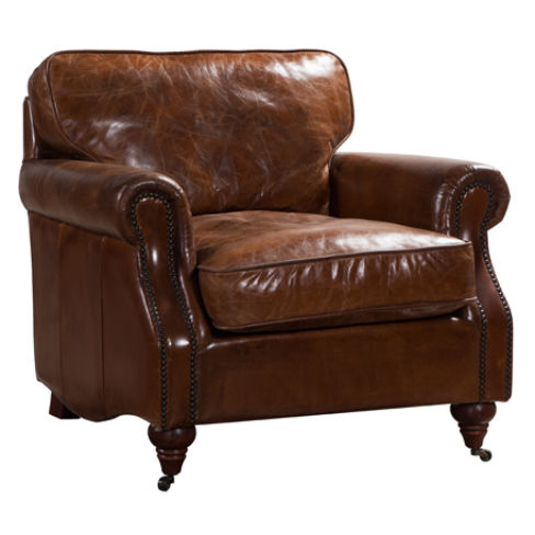 Colonel Vintage Distressed Leather Armchair