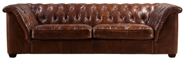 Gable Chesterfield Vintage Distressed Leather Sofa