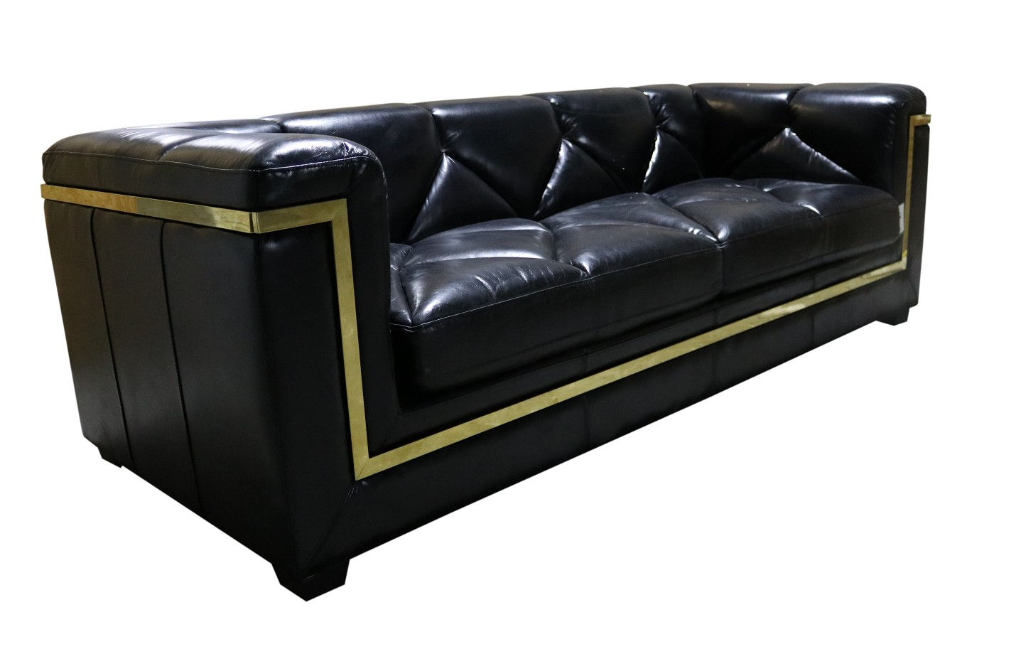 Gatsby 3 Seater Black Distressed Leather Sofa Vintage Distressed Real Leather Chesterfield 3 Seater Sofa