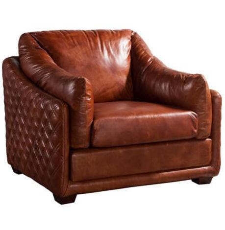 Fantastic Hudson Luxury Vintage Retro Armchair Distressed Leather Sofa Dailytribune Chair Design For Home Dailytribuneorg