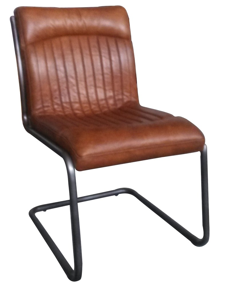 255 & Irving Vintage Leather Dining Chair