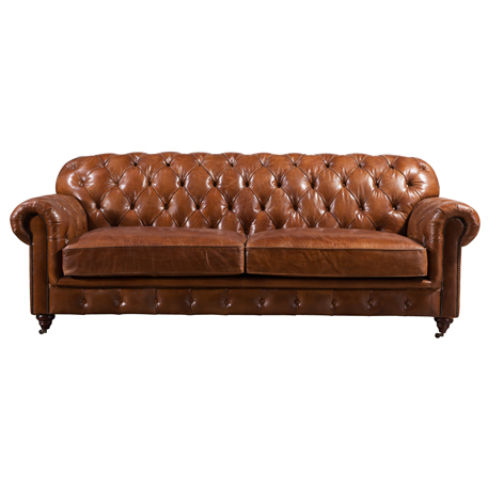 Lansdowne Chesterfield Vintage Retro Leather Settee Sofa