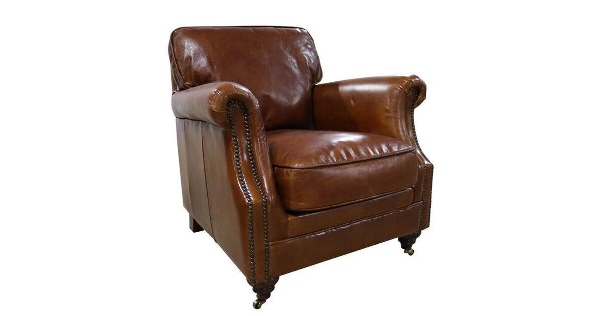Luxury Vintage Tan Distressed Leather Armchair | Vintage ...