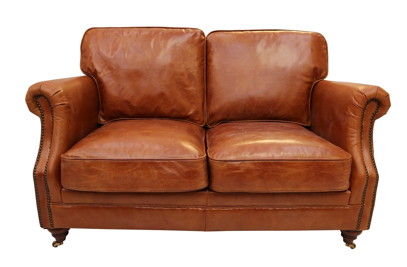 Cool Luxury Vintage Distressed Leather 2 Seater Settee Sofa Tan Dailytribune Chair Design For Home Dailytribuneorg
