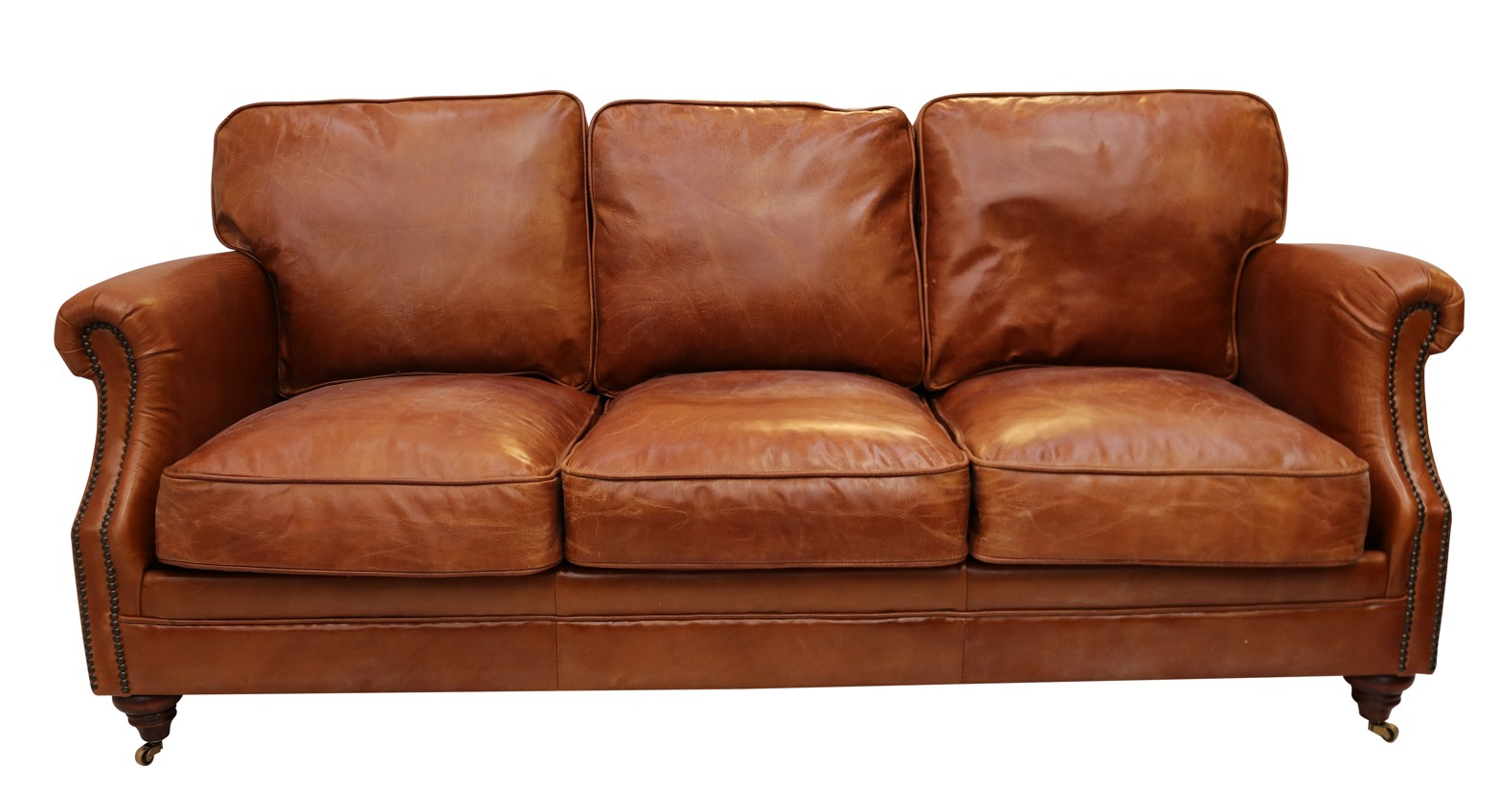 Cool Luxury Vintage Distressed Leather 3 Seater Settee Sofa Tan Dailytribune Chair Design For Home Dailytribuneorg