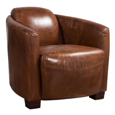 Marlborough Vintage Distressed Leather Tub Chair