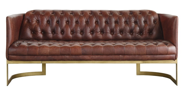 Metal Frame Chesterfield Buttoned 3 Seater Distressed Leather Sofa Vintage Furniture By Designer Sofas For You