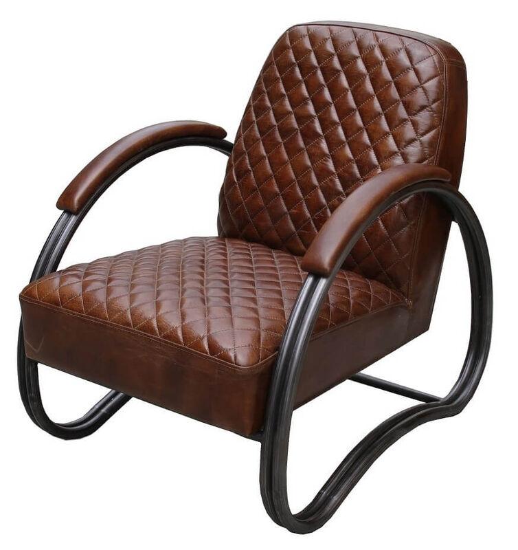 Njord Vintage Brown Leather Armchair