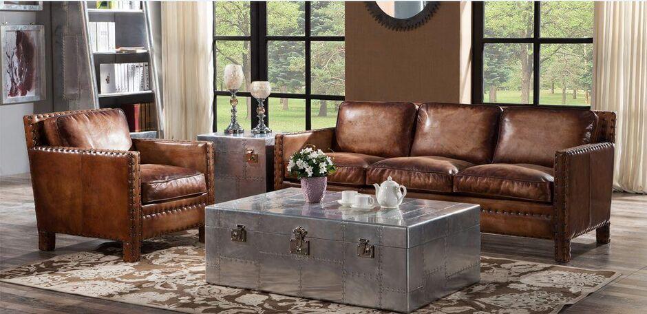 Fantastic Portofino Luxury Vintage Distressed Leather Sofa Suite Cjindustries Chair Design For Home Cjindustriesco