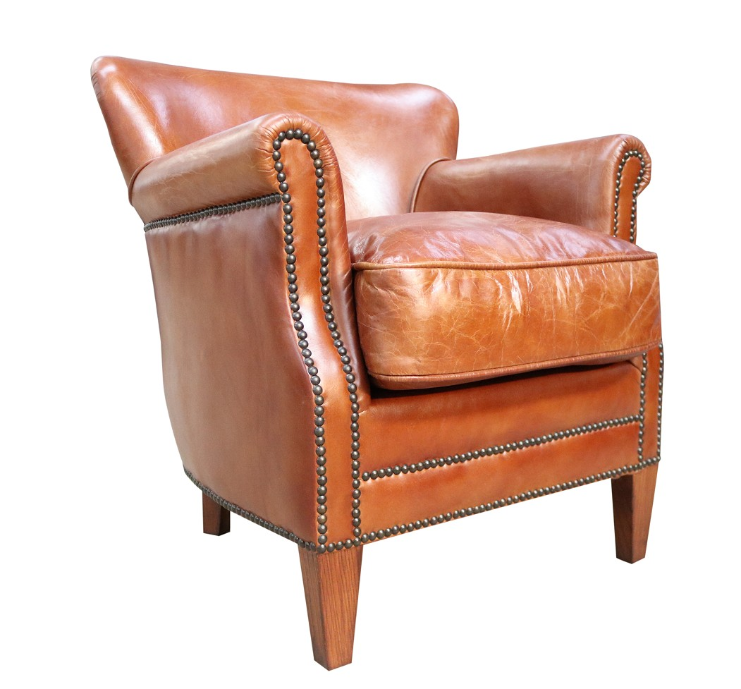 Professor Vintage Tan Distressed Leather Armchair Vintage Chairs By Desginer Sofas For You