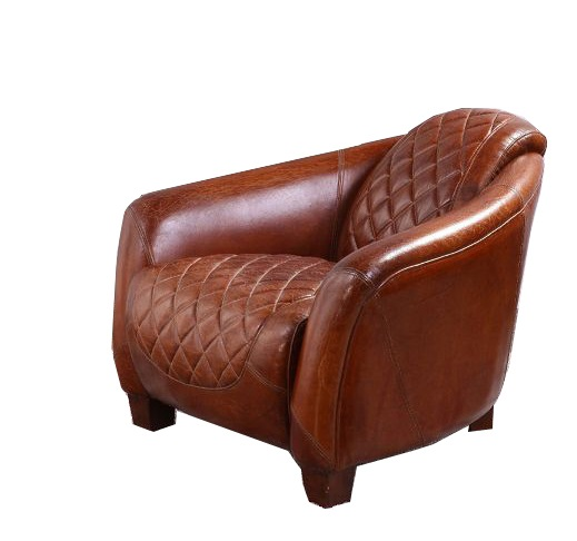Awe Inspiring Quilted Vintage Distressed Leather Tub Chair Squirreltailoven Fun Painted Chair Ideas Images Squirreltailovenorg