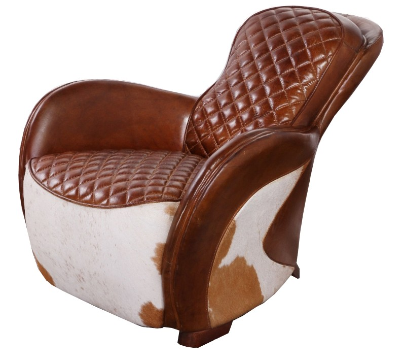 Saddle Vintage Cowhide Leather Chair