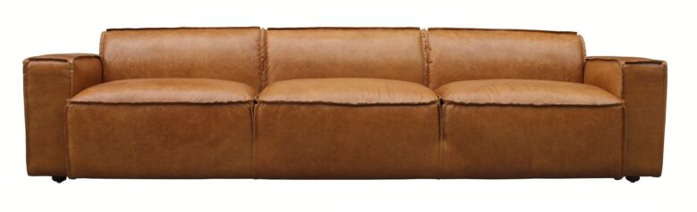 Scruffy 4 Seater Vintage Distressed Leather Sofa
