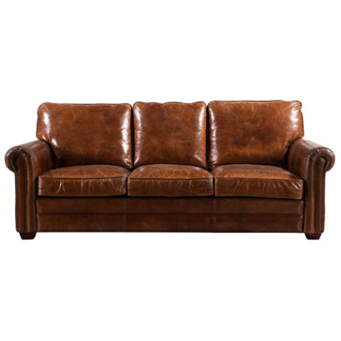 Sloane Vintage 3 Seater Leather Sofa