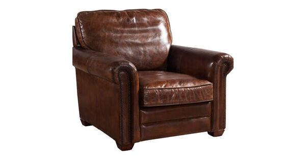 Sloane Vintage Retro Distressed Leather Armchair Vintage