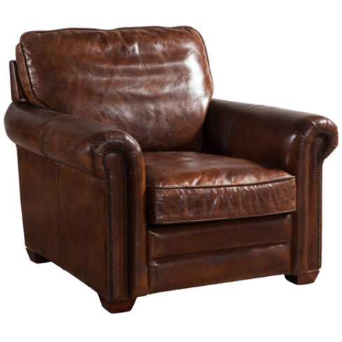 Sloane Vintage Retro Distressed Leather Armchair