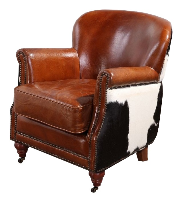 Pleasant Hair On Hide Black Cow Vintage Distressed Leather Armchair Alphanode Cool Chair Designs And Ideas Alphanodeonline