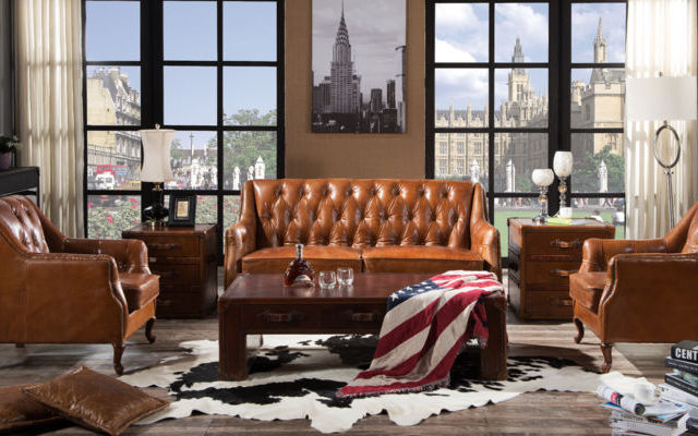 Distressed Vintage Leather Sofas: Save 50%!