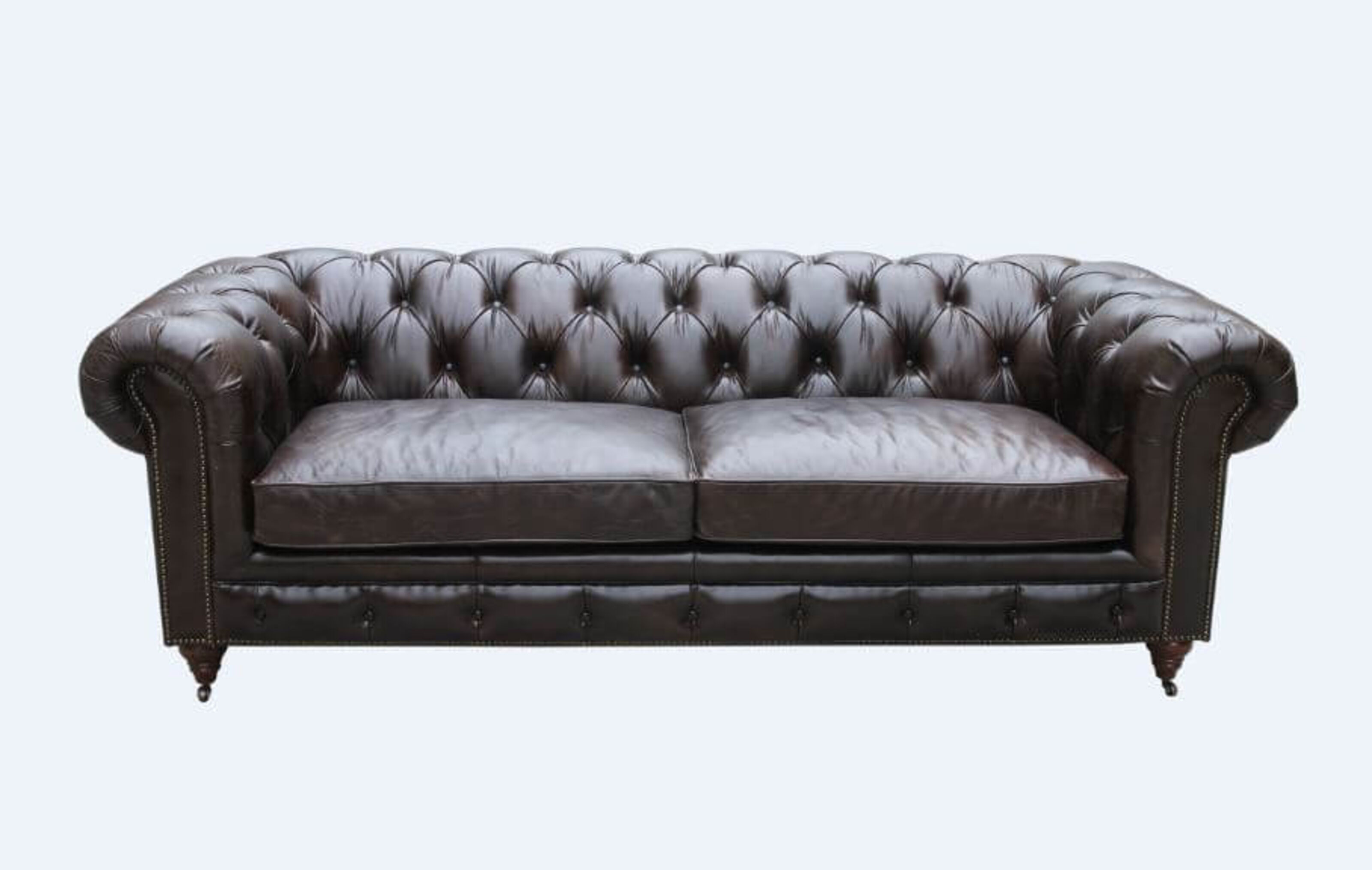 Vintage Distressed Leather Chesterfield 3 Seater Sofa Designer