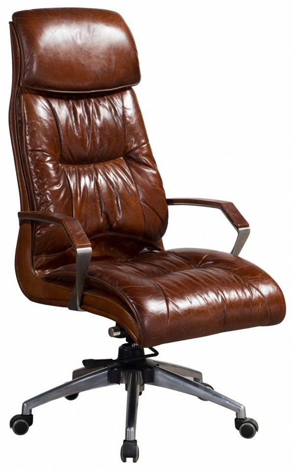 Vintage Distressed Leather Office Chair, Real Leather Office Chair