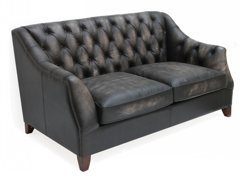 Viscount William Vintage Distressed Leather 2 Seater Sofa