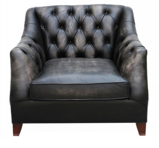 Viscount William Vintage Distressed Leather Armchair