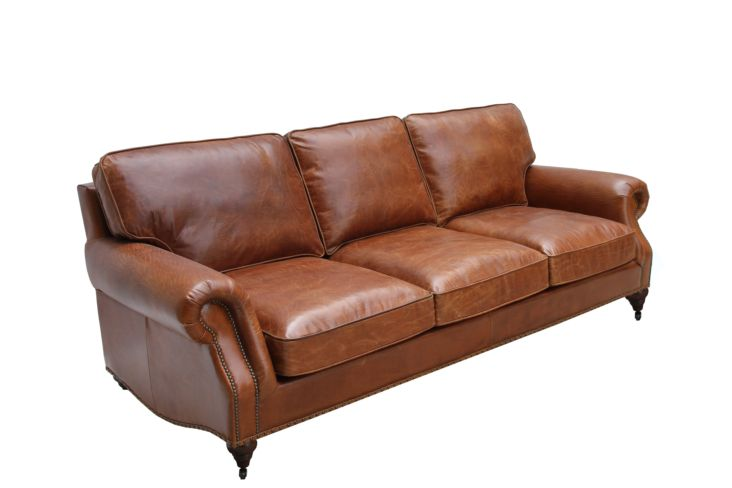 Westminster Vintage Distressed Leather 3 Seater Settee Sofa