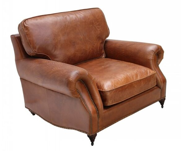 Westminster Vintage Distressed Leather Armchair