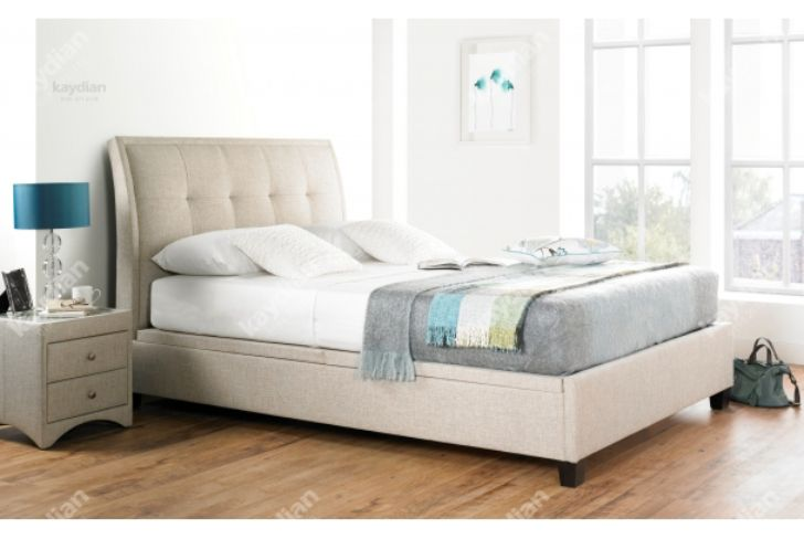 ACCENT 4'6 Ottoman Storage Bed Oatmeal