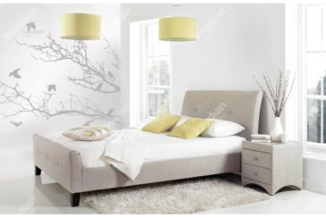 AMBLE 4'6 Double bed Oatmeal