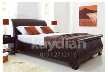 BAMBURGH 6ft bed Brown Matt
