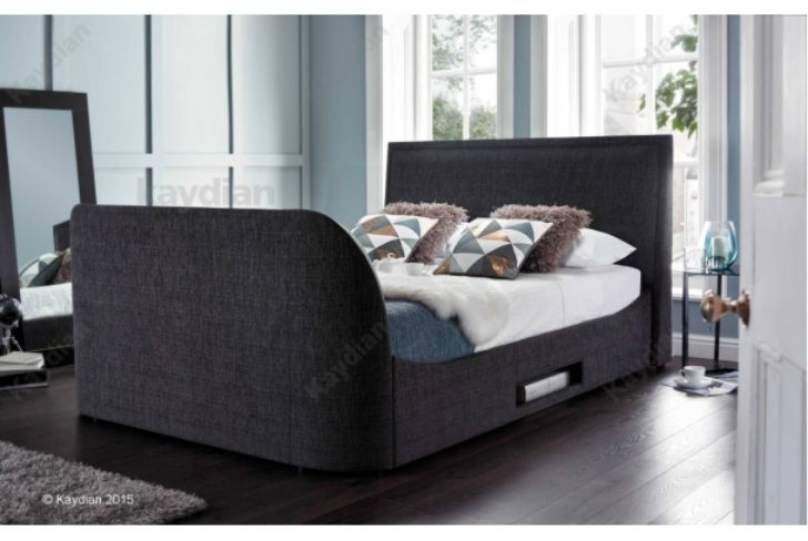 EMBLETON 4'6ft TV Bed Charcoal