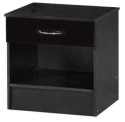 Alpha Black Two Tone Bedside Cabinet