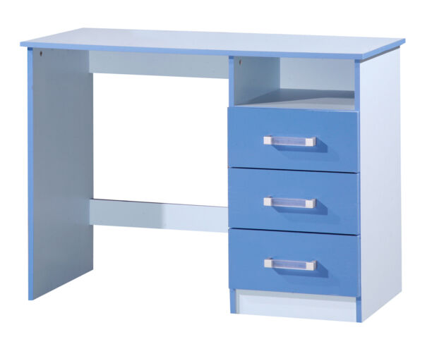 Marina Dressing Table Desk Blue Gloss Two Tone