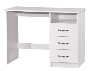 Marina Dressing Table Desk White Gloss & White Ash