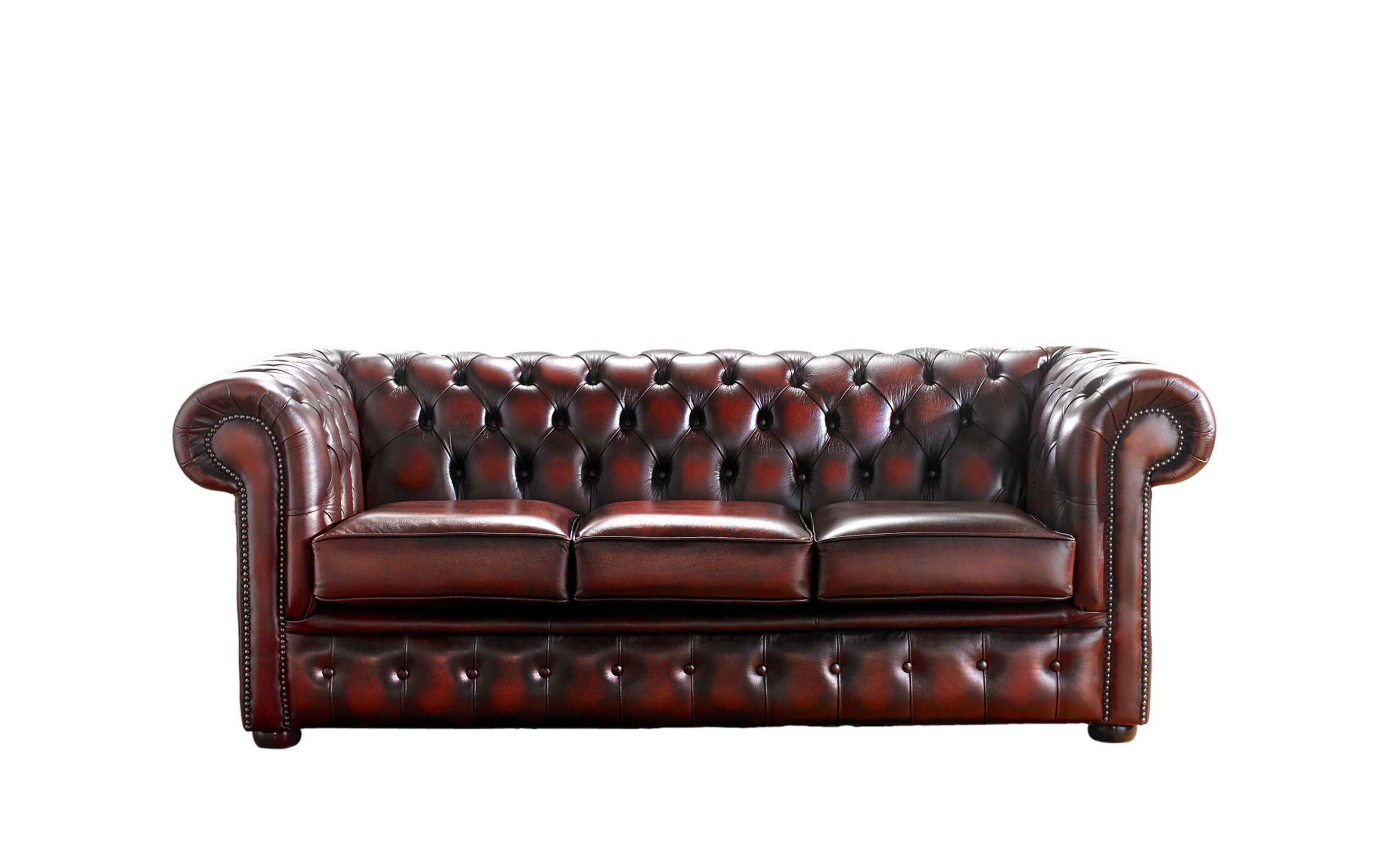 Picture of: Designersofas4u Buy 3 Seat Oxblood Leather Chesterfield Sofa