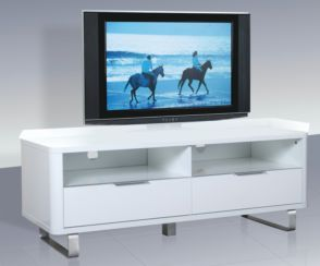 Accent White High Gloss TV Unit