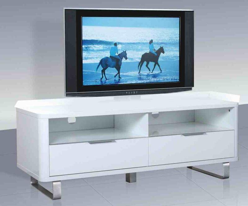Accent White High Gloss TV Unit