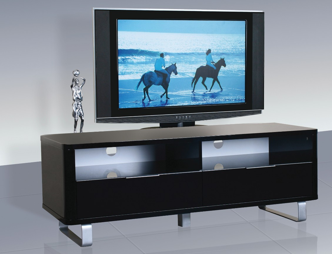 Accent Black High Gloss TV Unit