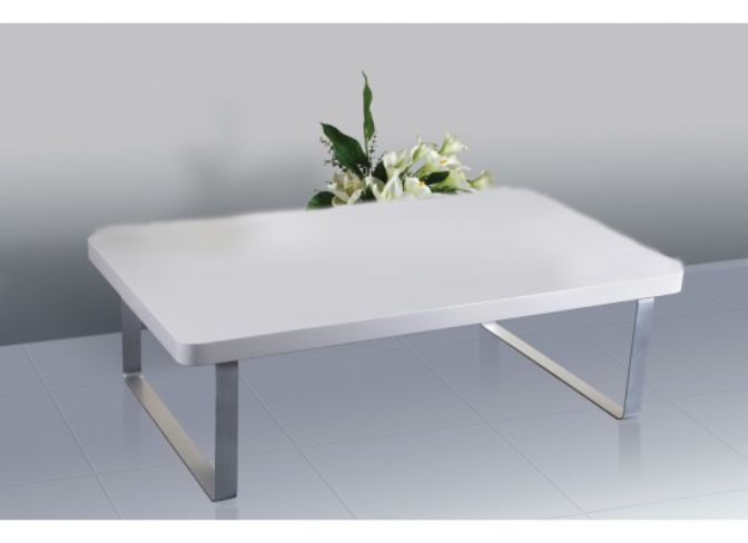 Accent Coffee Table – High Gloss White
