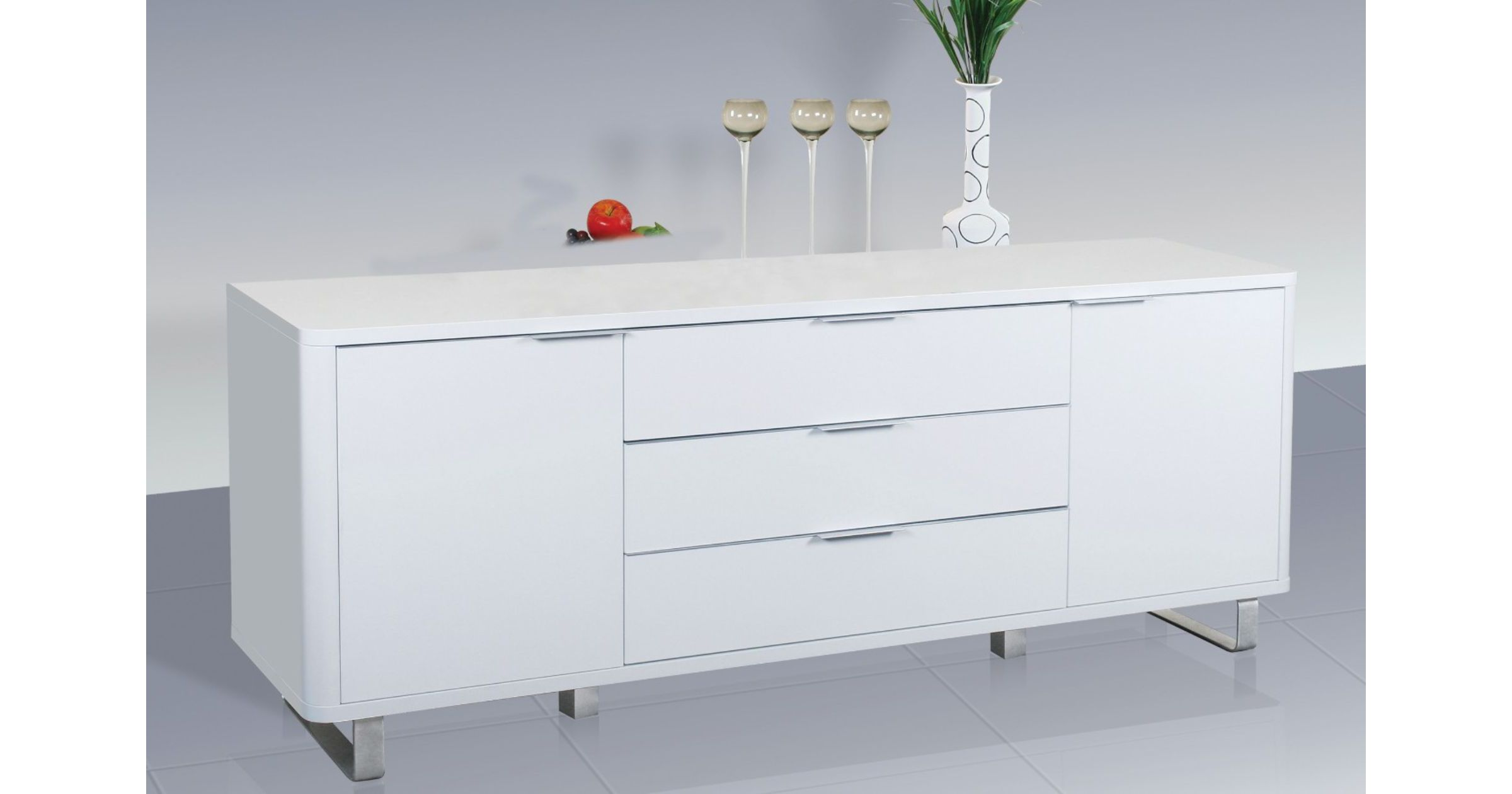 Accent White High Gloss Sideboard