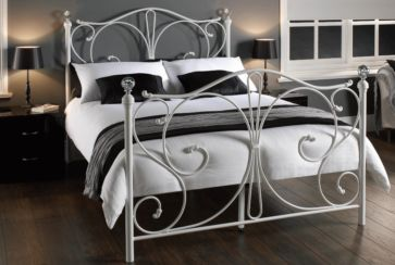 Florence Double White Metal Bed
