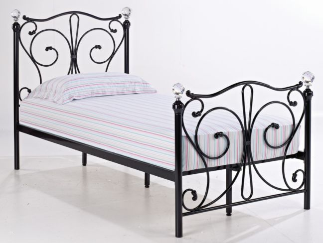 Florence Single Black Metal Bed