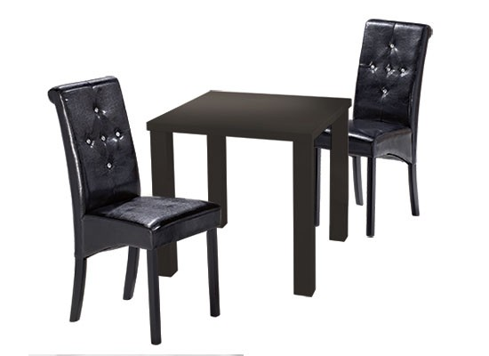 Maxwell Mdf High Gloss Black Small, Small Black Dining Table And Chairs