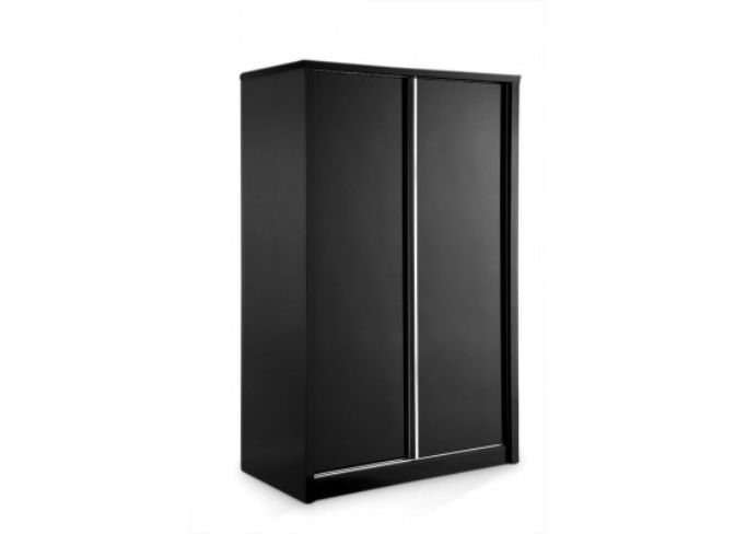 Novello 2 Door Sliding Wardrobe – Black