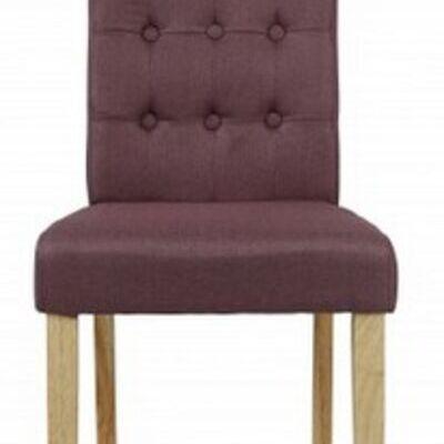 4 x roma plum dining chairs