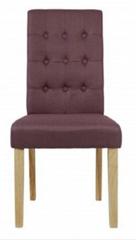 2 x Roma Plum Dining Chairs