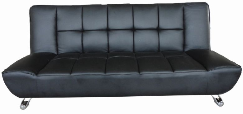 Vogue Faux Leather Black Sofa Bed